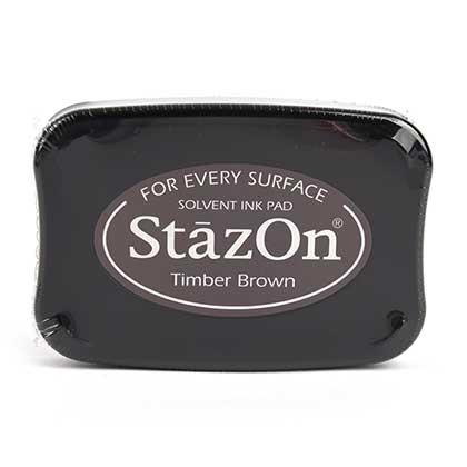 STAZON 유성잉크패드 (TIMBER BROWN)