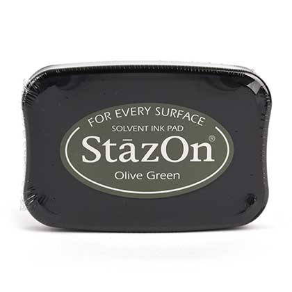 STAZON 유성잉크패드 (OLIVE GREEN)