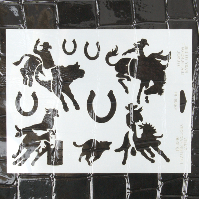 LEATHERCRAFT STENCIL-RODEO