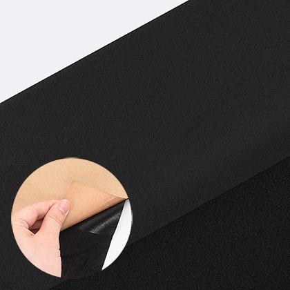 접착식 스웨이드 원단 - 블랙