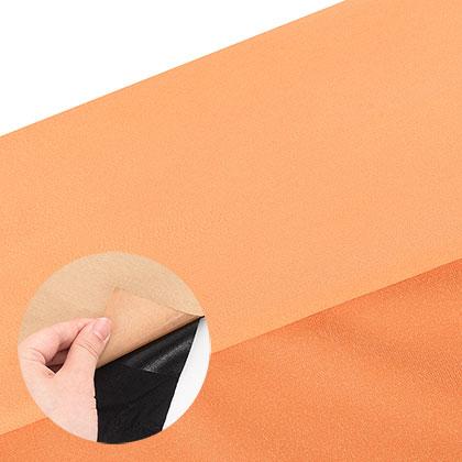 접착식 스웨이드 원단 - 오렌지