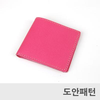 레더 DIY 패턴 심플반지갑