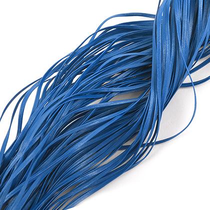 인조가죽 폴딩 레이스끈 5MM - 블루