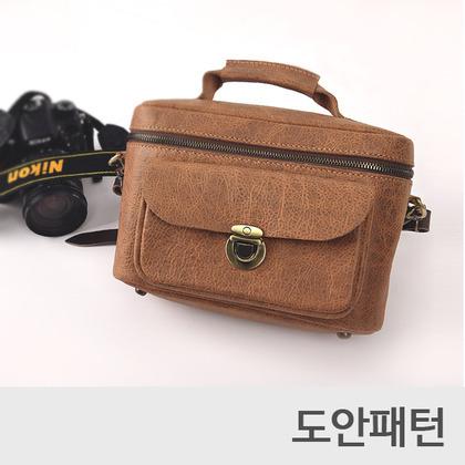 레더 DIY 패턴 카메라가방