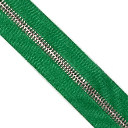 메탈 지퍼 5호 양날 실버 - 876 GREEN 1M