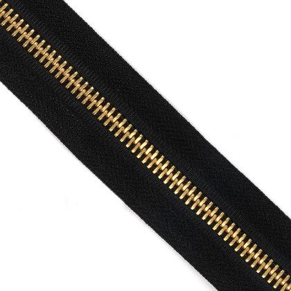메탈 지퍼 5호 골드 - 580 BLACK 1M