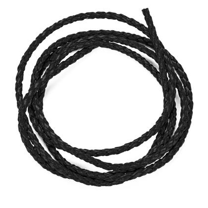 천연가죽 메쉬끈 3MM - 블랙 1M
