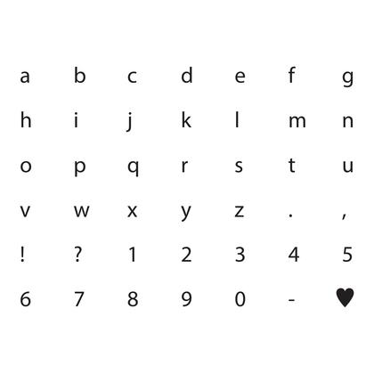 수지판 - 알파벳