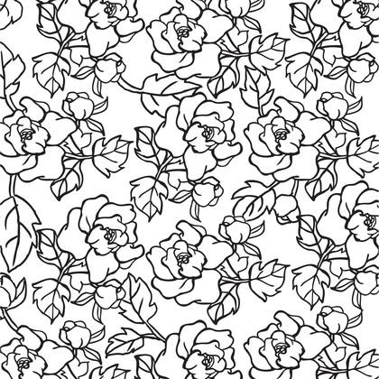 수지판 A4 - 패턴 꽃 3