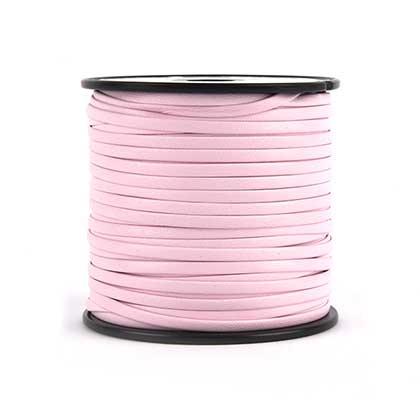 천연가죽 폴딩 레이스끈 3MM - 라이트 핑크 50YD