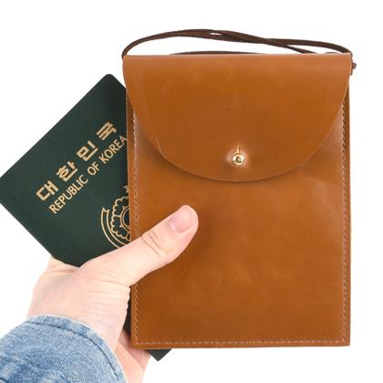 [가죽재단] 여권케이스 - 목걸이형A