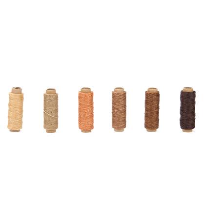 평면 왁스사 150D 50M  6종세트 -  브라운계열