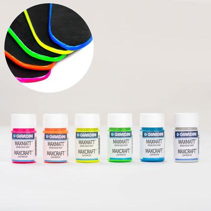 지아디니 형광 엣지 페인트 25ML 6종 세트
