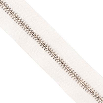 자투리 - YKK 메탈 지퍼 5호 실버 - 30 WHITE