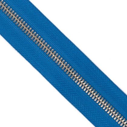 자투리 - 메탈 지퍼 5호 양날 실버 - 918 BLUE