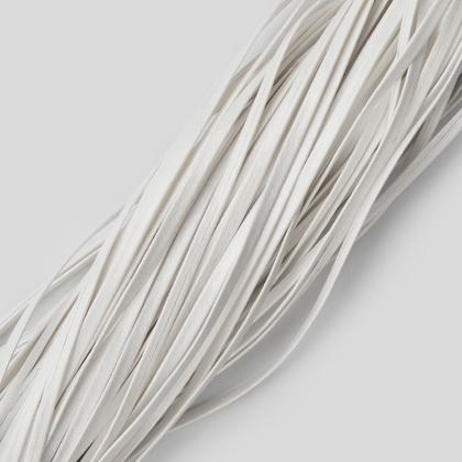 인조가죽 폴딩 레이스끈 3MM - 에나멜 화이트