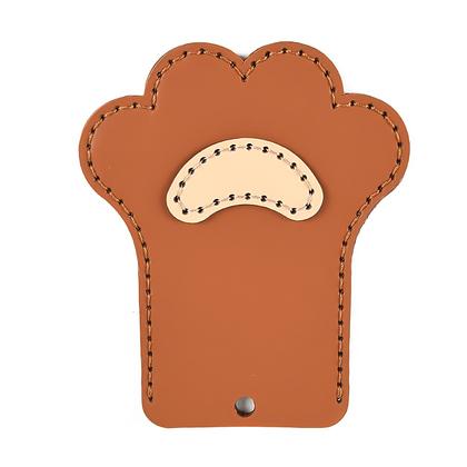 PVC 패턴 카드지갑 - 곰발바닥
