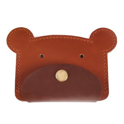 PVC 패턴 카드동전지갑 - 불곰