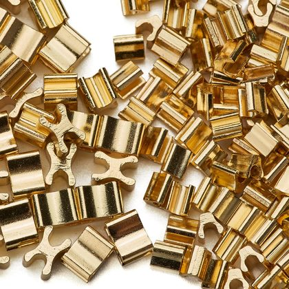 (C) 금속지퍼 스토퍼세트 5호 - 골드 약 80세트