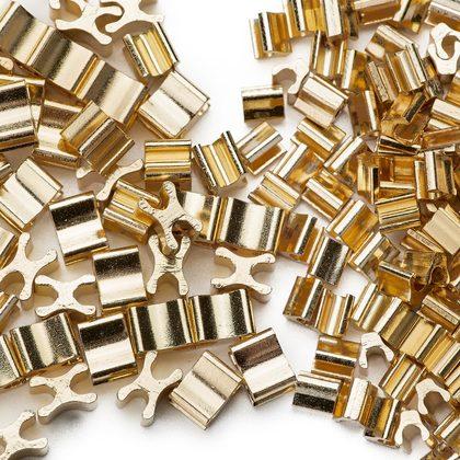 (C) 금속지퍼 스토퍼세트 3호 - 골드 약 120세트
