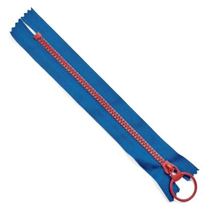 콤비 나일론지퍼 15CM - 파랑,핑크