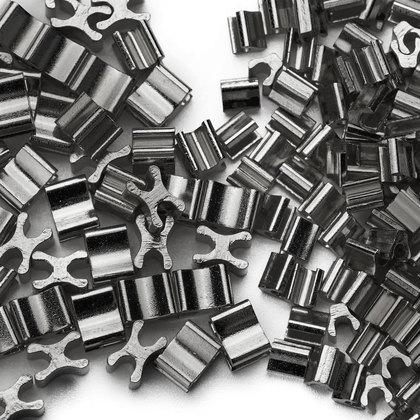(C) 금속지퍼 스토퍼세트 3호 - 흑니켈 약 120세트