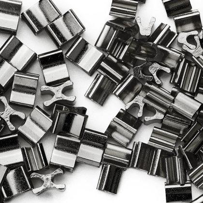 (C) 금속지퍼 스토퍼세트 5호 - 흑니켈 약 80세트