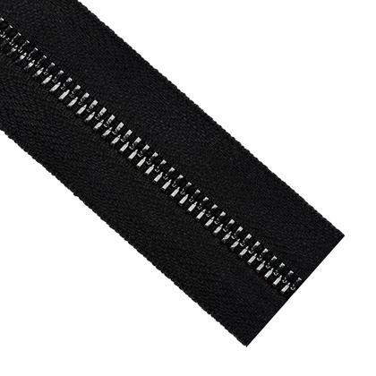 자투리 - 레노 메탈 지퍼 5호 블랙 - 580 블랙