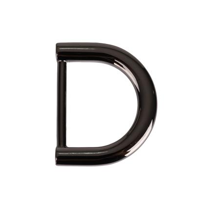 레지 하프문 D링 25MM - 흑니켈